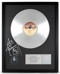 "Ace Frehley Signed ""KISS - Ace Frehley"" Original RIAA Platinum Album Award"