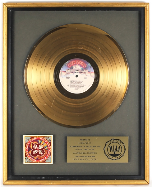 "KISS ""Rock and Roll Over"" Original RIAA Gold Album Award"