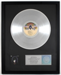 """KISS - Paul Stanley"" Original RIAA Platinum Album Award Presented to and Signed by KISS Costumer Maria Contessa"