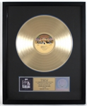 "KISS ""Dressed To Kill"" Original RIAA Gold Album Award Presented to and Signed by Road Manager J.R. Smalling"