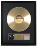 """KISS"" Original RIAA Gold Album Award Presented to and Signed by Road Manager J.R. Smalling"