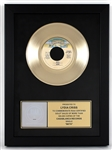 "KISS ""Beth"" Original RIAA Gold Single Record Award Presented to and Signed by Lydia Criss"