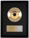 "KISS ""I Was Made For Loving You"" Original RIAA Gold Single Record Award Presented to and Signed by KISS Costumer Maria Contessa"