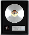"""KISS - Gene Simmons"" Original RIAA Platinum Album Award Presented to and Signed by KISS Costumer Maria Contessa"