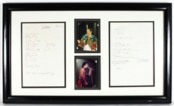 Queen Freddie Mercury Handwritten Concert Set Lists