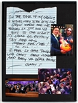 "Ace Frehley ""New York Groove"" Handwritten Lyrics Displayed with Jimmy Fallon Photographs"