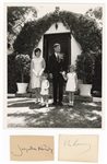 John F. Kennedy and Jaqueline Kennedy Signature Cuts with Family Portrait