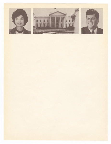 President John F. Kennedy and First Lady Jacqueline Kennedy Original White House Stationery