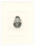 President John F. Kennedy Original U.S. Bureau of Engineering Engraving