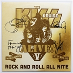 "KISS Signed ""The KISS Kruise Alive V"" 1995"" 12"" Single Record"