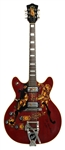 Jimi Hendrix Stage Played 1967 Electric Guild Starfire V Cherry Guitar