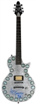 KISS Ace Frehley Signed U.F.O. Silver Custom Guitar with Signed Case