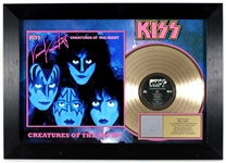 "KISS ""Creatures of the Night"" Original RIAA Gold Album Award Display Presented to Eric Carr"