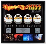"""Kissology The Ultimate Kiss Collection Vol. 3"" Original RIAA Multi-Platinum Award Display Presented to Eric Carr"