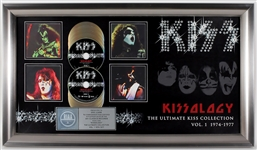 """Kissology The Ultimate KISS Collection Vol. 1"" Original RIAA Multi-Platinum Music DVD Award Display Presented to Eric Carr"
