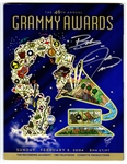 Beyoncé and Justin Timberlake Signed 46th Annual Grammy Awards Program
