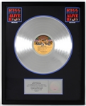 """KISS Alive II"" Original RIAA Multi-Platinum Album Award Signed by Bruce Kulick and Maria Contessa"