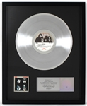 "KISS ""Dynasty"" Original RIAA Multi-Platinum Album Award Presented to and Signed by Maria Contessa"