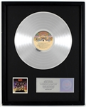 "KISS ""Destroyer"" Original RIAA Platinum Album Award Presented to and Signed by Maria Contessa"