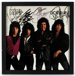 "KISS Signed ""Lick It Up"" Album Cover"