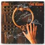 "KISS Signed ""Music from The Elder"" Album Cover"