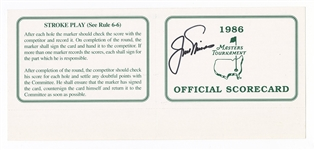 Jack Nicklaus Signed Official 1986 Augusta Masters Tournament Scorecard JSA LOA