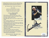 Arnold Palmer Signed Official Blue Bell Country Club Scorecard JSA Authentication