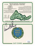 Arnold Palmer Signed Official Oak Hill Country Club Scorecard JSA Authentication