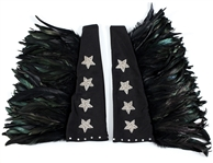 KISS Paul Stanley Custom Sequin Star and Feather Long Stage Gloves Signed by KISS Costumer Maria Contessa