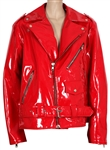 "Lil Nas X Rolling Stone Magazine Worn B James Red Leather ""Hollywood Boy Jacket"""