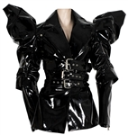 Lady Gaga Haus Beauty Brand Video Ad Worn Elaborate Black Patent Leather Jacket