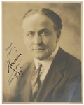 Harry Houdini 1925 Signed and Inscribed Original Photograph JSA LOA
