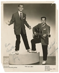 "Paul Simon and Art Garfunkel Signed ""Tom and Jerry"" Original Promotional Photograph"