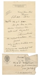 Harry Houdini 1920 Handwritten and Signed Letter and Envelope JSA LOA