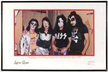 "Early KISS 1973 ""Bleecker Street Loft"" Original Lydia Criss Signed Photograph"