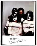 "KISS ""Dynasty"" Album Cover Sessions Poster Insert Photograph Signed by Dennis Woloch"