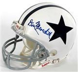 Don Meredith Signed Dallas Cowboys Mini Football Helmet JSA Authenticated