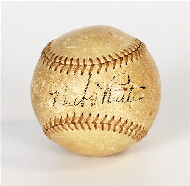 "Babe Ruth Signed ""Blood"" Baseball Beckett LOA"
