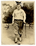 Babe Ruth Original Stamped Golf Wire Photograph