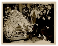 Babe Ruth Funeral Original Wire Stamped Photograph