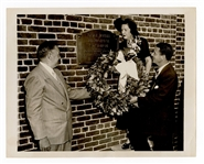 """Mrs. Babe Ruth"" Claire Merritt Ruth Original Babe Ruth Yankee Stadium Memorial Wire Photograph"