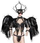 "Lady Gaga ""Born This Way Tour"" Stage Worn Custom Armani Bondage Costume and Headpiece"