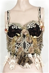 Britney Spears Photo Shoot Worn Custom Embroidered and Elaborately Embellished Black Corset