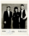 Rush Vintage Signed Original Promotional Photograph Beckett LOA