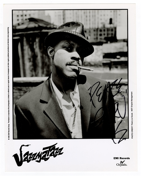"Guru Signed ""Jazzmatazz"" Promotional Photograph"