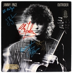 "Jimmy Page, Jason Bonham, John Biles and Chris Farlowe Signed ""Outrider"" Album"