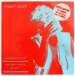 "Robert Plant Vintage Signed and Inscribed Limited Edition 12"" Single Record"