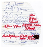 Bob Dylan Stage Used Guitar Pick with His Signed Inscription