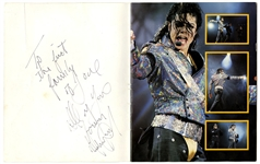 "Michael Jackson Signed & Inscribed ""Live and Dangerous"" Color Picture Book"