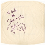 John Lennon Signed & Inscribed 45 Record Sleeve with Hand-Drawn Self-Portraits Caiazzo Authenticated